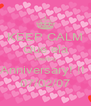 KEEP CALM Que ela Wedding Anniversary! !!  07/02/07 - Personalised Poster A4 size