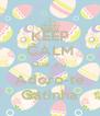 KEEP CALM Que eu  Adoro-te Gatinha - Personalised Poster A4 size