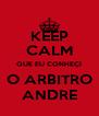 KEEP CALM QUE EU CONHEÇI O ARBITRO ANDRE - Personalised Poster A4 size