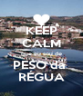 KEEP CALM que eu sou de PESO da  RÉGUA - Personalised Poster A4 size