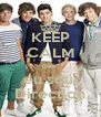 KEEP CALM que  eu sou  Direction - Personalised Poster A4 size