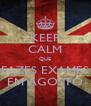 KEEP CALM QUE FAZES EXAMES EM AGOSTO - Personalised Poster A4 size