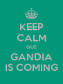 KEEP CALM QUE GANDIA IS COMING - Personalised Poster A4 size