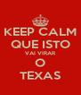 KEEP CALM QUE ISTO VAI VIRAR O TEXAS - Personalised Poster A4 size