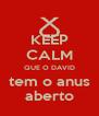 KEEP CALM QUE O DAVID tem o anus aberto - Personalised Poster A4 size