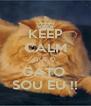 KEEP CALM QUE O  GATO  SOU EU !! - Personalised Poster A4 size