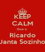 KEEP CALM Que o  Ricardo Janta Sozinho - Personalised Poster A4 size