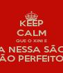 KEEP CALM QUE O XINI E A NESSA SÃO SÃO PERFEITOS - Personalised Poster A4 size