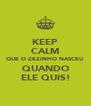 KEEP CALM QUE O ZEZINHO NASCEU QUANDO ELE QUIS! - Personalised Poster A4 size