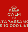 KEEP CALM QUE ULTAPASSAMOS OS 10 000 LIKES - Personalised Poster A4 size