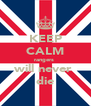 KEEP CALM rangers  will never  die - Personalised Poster A4 size