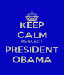 KEEP CALM RE-ELECT PRESIDENT OBAMA - Personalised Poster A4 size