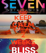 KEEP CALM REMAINING 2 WEEKS - Personalised Poster A4 size