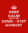 KEEP CALM RESITS ARE 22ND - 31ST AUGUST - Personalised Poster A4 size