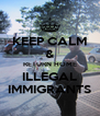 KEEP CALM & RETURN HOME ILLEGAL IMMIGRANTS - Personalised Poster A4 size