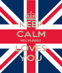 KEEP CALM RICHARD LOVES YOU - Personalised Poster A4 size