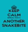 KEEP CALM RINGO HAVE ANOTHER SNAKEBITE - Personalised Poster A4 size