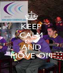 KEEP CALM RNDC AND MOVE ON - Personalised Poster A4 size