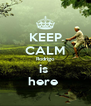 KEEP CALM Rodrigo is  here  - Personalised Poster A4 size