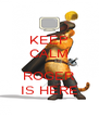 KEEP CALM  ROGER IS HERE - Personalised Poster A4 size