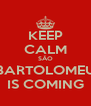 KEEP CALM SÂO BARTOLOMEU IS COMING - Personalised Poster A4 size