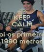 KEEP CALM só  doi os primeiros 1990 metros - Personalised Poster A4 size