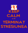 KEEP CALM  S-A TERMINAT STRESIUNEA - Personalised Poster A4 size