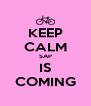 KEEP CALM SAP IS COMING - Personalised Poster A4 size