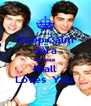 Keep Calm Sara Becuase  Niall Loves  You  - Personalised Poster A4 size
