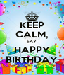 KEEP CALM, SAY HAPPY BIRTHDAY - Personalised Poster A4 size