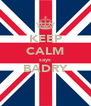 KEEP CALM says BADRY  - Personalised Poster A4 size