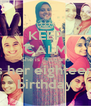 KEEP CALM She is صاحبي and it's her eighteenth birthday - Personalised Poster A4 size