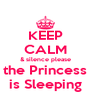 KEEP CALM & silence please the Princess is Sleeping - Personalised Poster A4 size