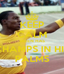 KEEP CALM SKEEN HAS CHAMPS IN HIS PALMS - Personalised Poster A4 size