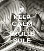 KEEP CALM  SKULLS RULE - Personalised Poster A4 size