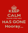 KEEP CALM SLEAFORD BID HAS GONE Hooray... - Personalised Poster A4 size