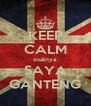 KEEP CALM soalnya SAYA GANTENG - Personalised Poster A4 size