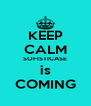 KEEP CALM SOFISTICASE is COMING - Personalised Poster A4 size