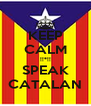 KEEP CALM !!*!! SPEAK CATALAN - Personalised Poster A4 size