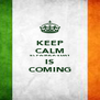 KEEP CALM ST. PATRICK'S DAY IS COMING - Personalised Poster A4 size