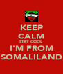KEEP CALM STAY COOL I'M FROM SOMALILAND - Personalised Poster A4 size