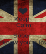 Keep   Calm Stay Sober  And know you're loved  - Personalised Poster A4 size
