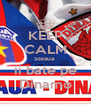 KEEP CALM Steaua  ii bate pe Dinamo - Personalised Poster A4 size