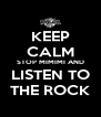 KEEP CALM STOP MIMIMI AND LISTEN TO THE ROCK - Personalised Poster A4 size