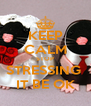 KEEP CALM STOP STRESSING  IT BE OK - Personalised Poster A4 size