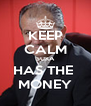 KEEP CALM SUKA HAS THE  MONEY - Personalised Poster A4 size