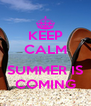 KEEP CALM  SUMMER IS COMING - Personalised Poster A4 size