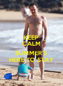 KEEP CALM  SUMMER'S HERE TO STAY - Personalised Poster A4 size