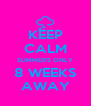 KEEP CALM SUMMER'S ONLY 8 WEEKS AWAY - Personalised Poster A4 size