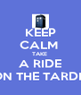 KEEP CALM  TAKE  A RIDE ON THE TARDIS - Personalised Poster A4 size